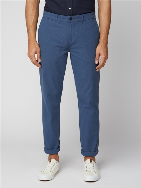 Blue Dobby Trousers