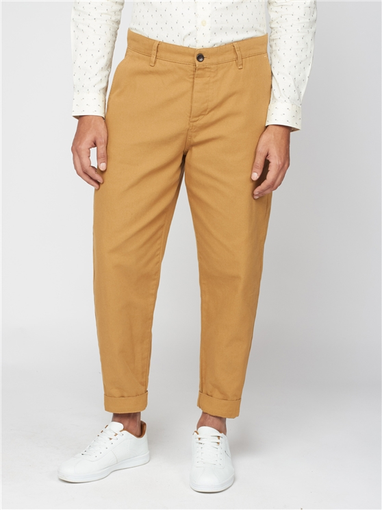 Gold Relaxed Canvas Trousers