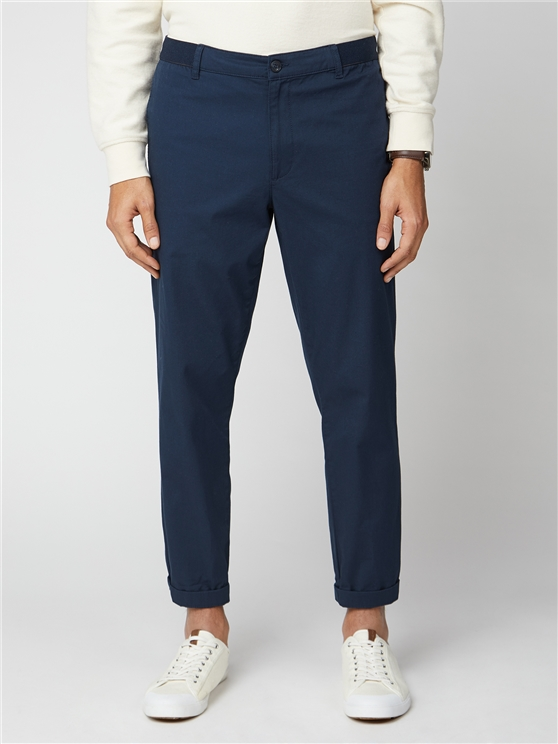 Navy Relaxed Casual Trousers