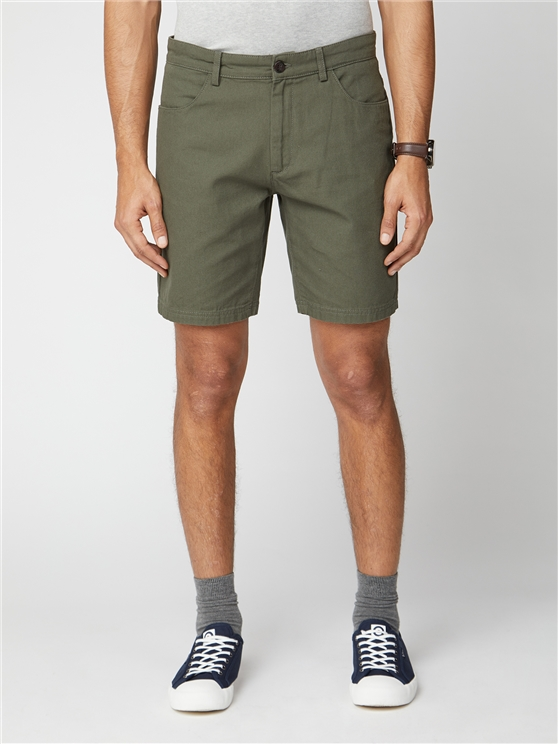 Plain Canvas Shorts