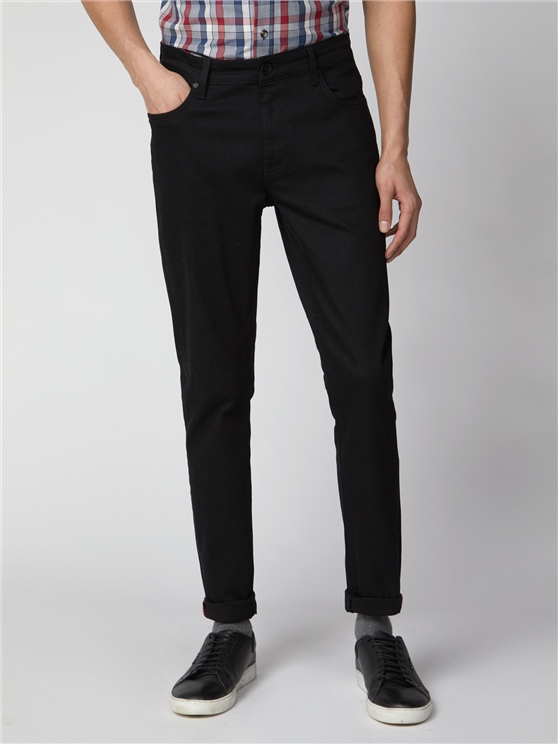 Slim Taper Black Jean