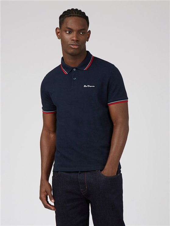 Navy Organic Signature Polo Shirt