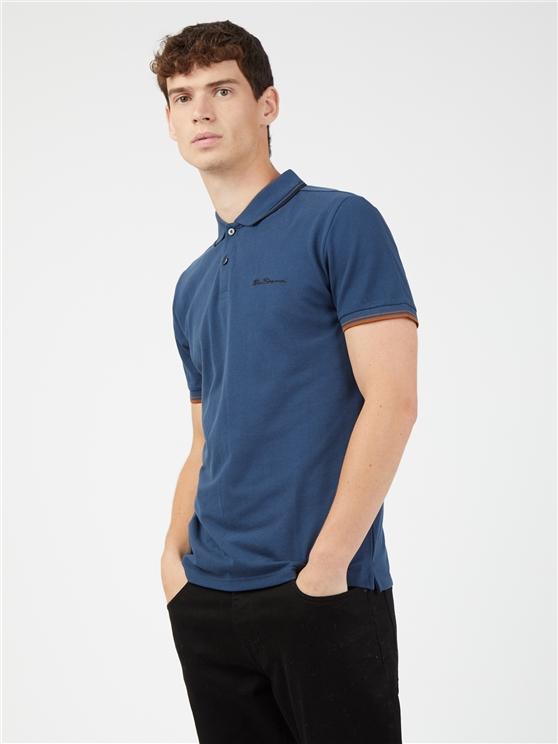 Dark Blue Signature Polo Shirt