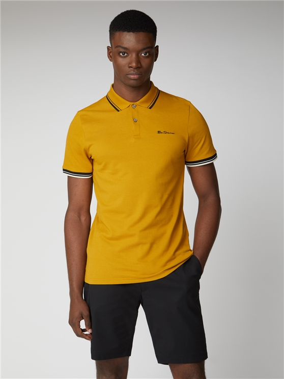 Yellow Organic Signature Polo Shirt
