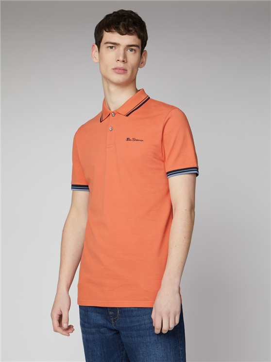 Orange Organic Signature Polo Shirt