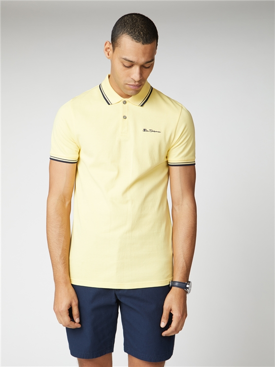Lemon Yellow Organic Signature Polo Shirt