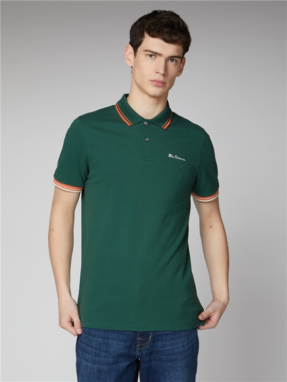 Forest Green Organic Signature Polo Shirt