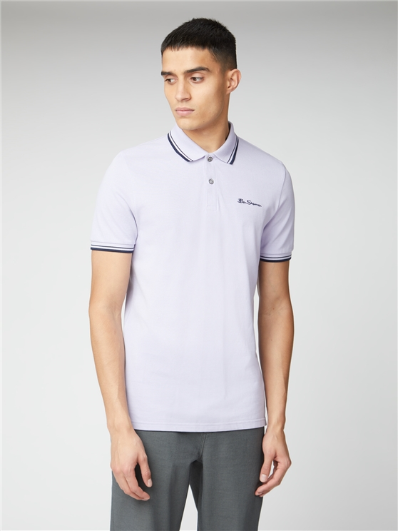 Lilac Organic Signature Polo Shirt