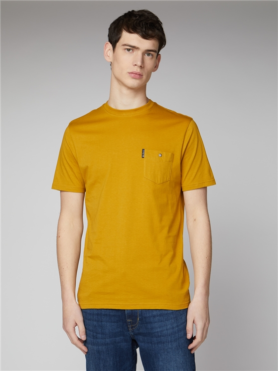 Mustard Yellow Signature Tee with Chest Pocket