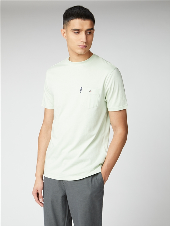 Light Green Signature Tee with Chest Pocket