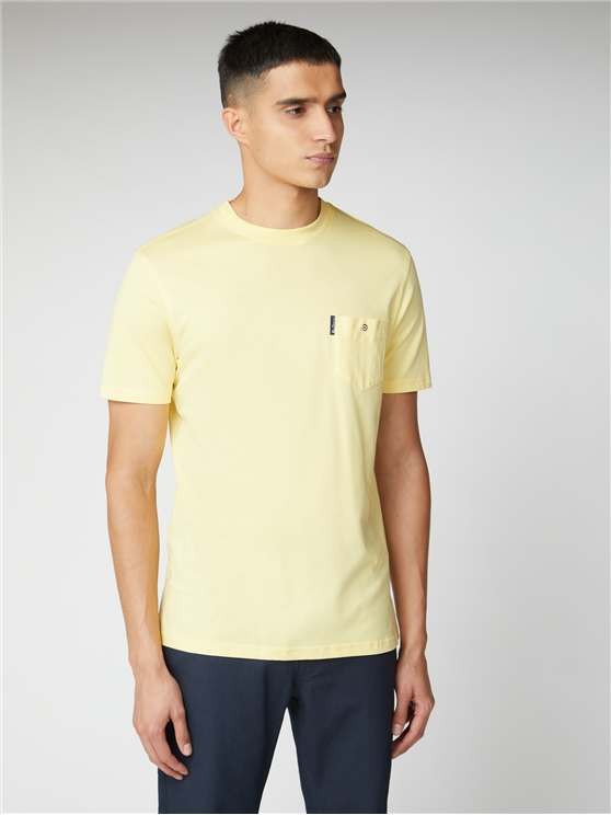 Lemon Yellow Signature Tee with Chest Pocket