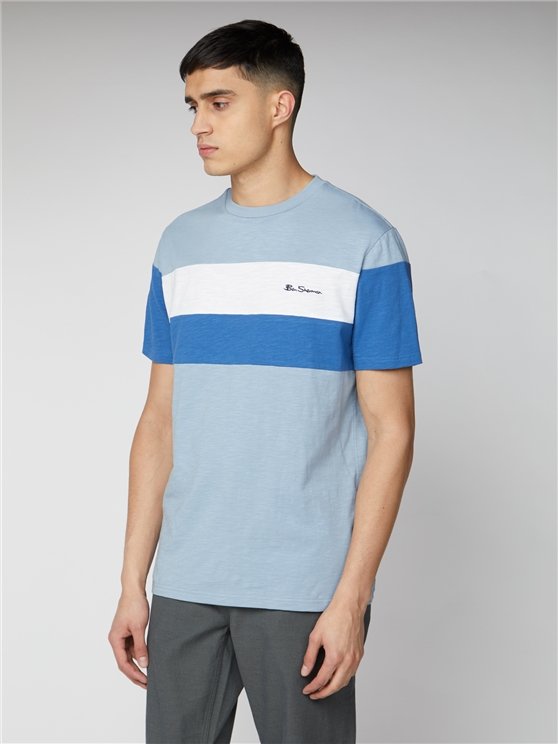 Heritage Blue Sports Block Tee