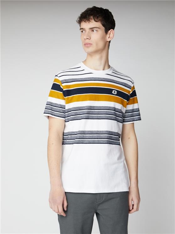 Reverse Knit Stripe Tee.