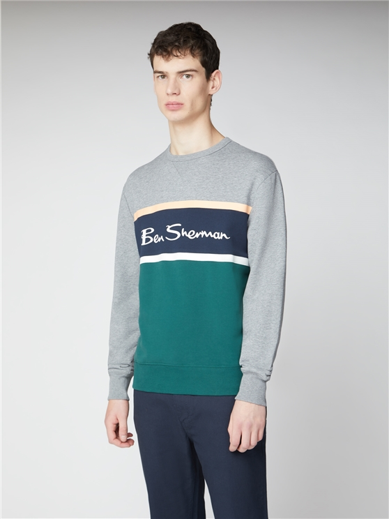 Colour Blocked Logo Sweatshirt