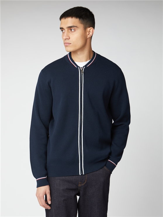 Zip Through Knitted Bomber