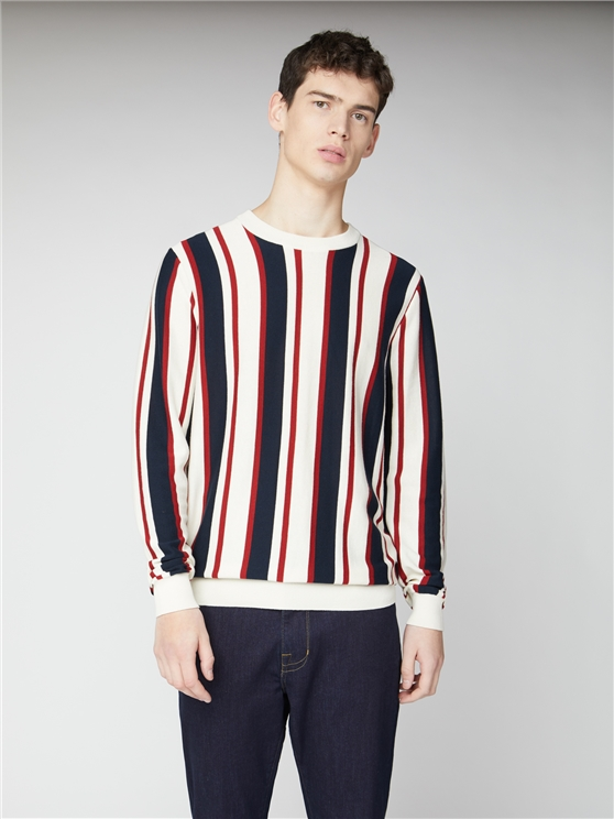 Knitted Mod Stripe Crew
