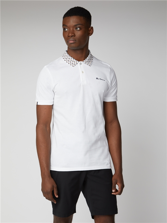 Mod Stripe Jacquard Collar Polo