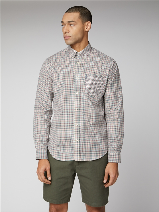 Dijon Multicolour Button Down Mini Gingham Shirt