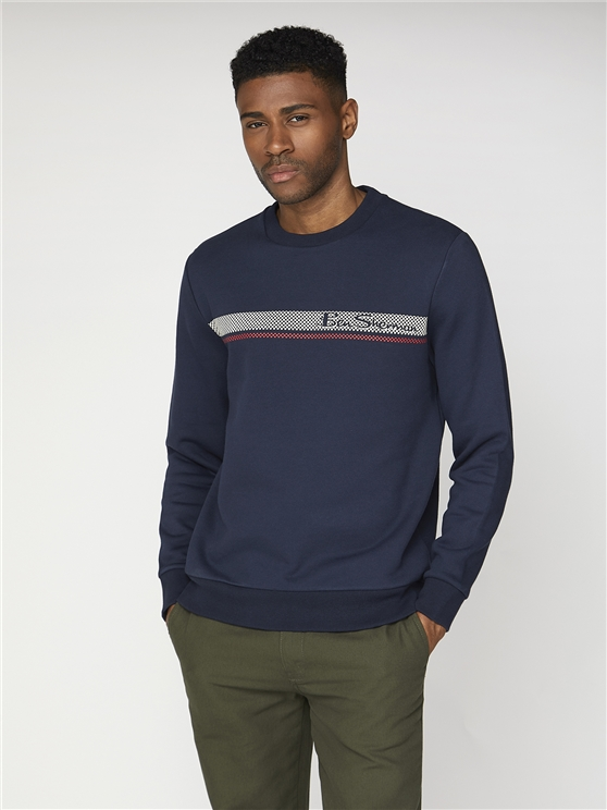 Chest Stripe Crew Sweater