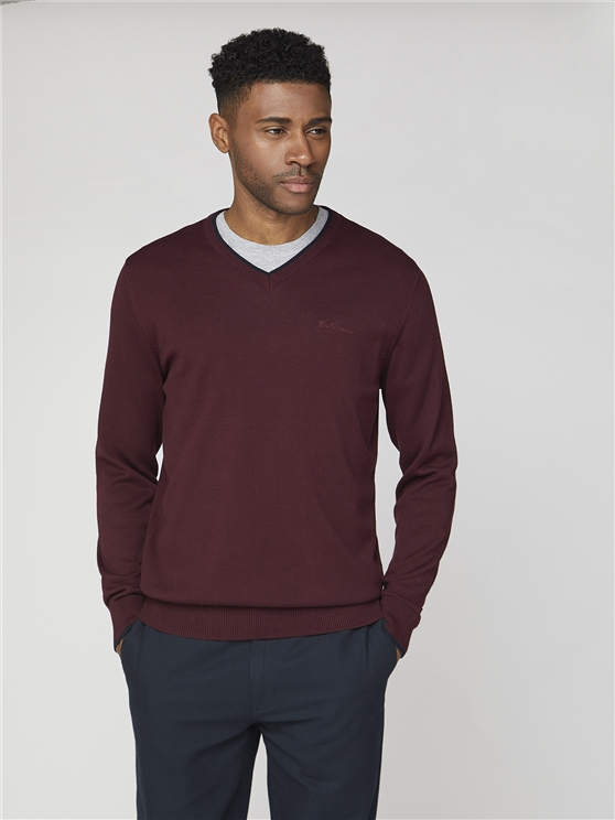 Plain V-neck with Tipping