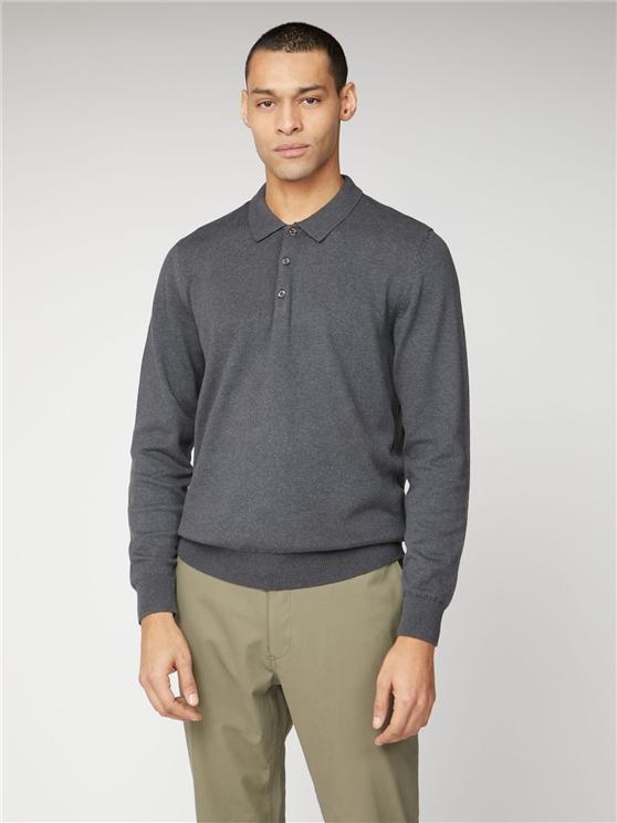 Long Sleeve Polo Knit Jumper
