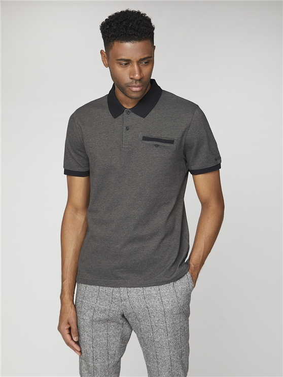 Two Tone Pique Polo Shirt