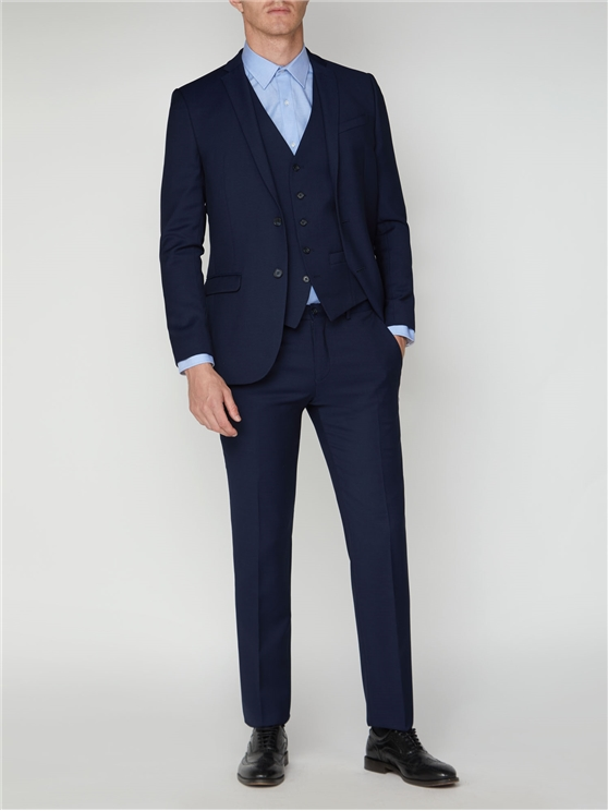 Bright Blue Semi Plain Suit