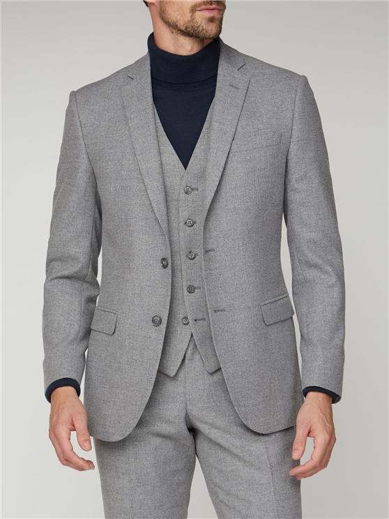 Cool Grey Texture Tailored Fit Suit