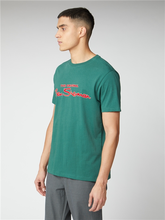 Forest Green Signature Logo Print Tee