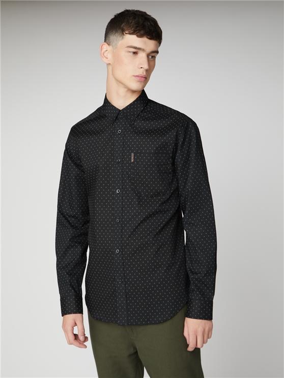 Long Sleeve Spot Print Shirt