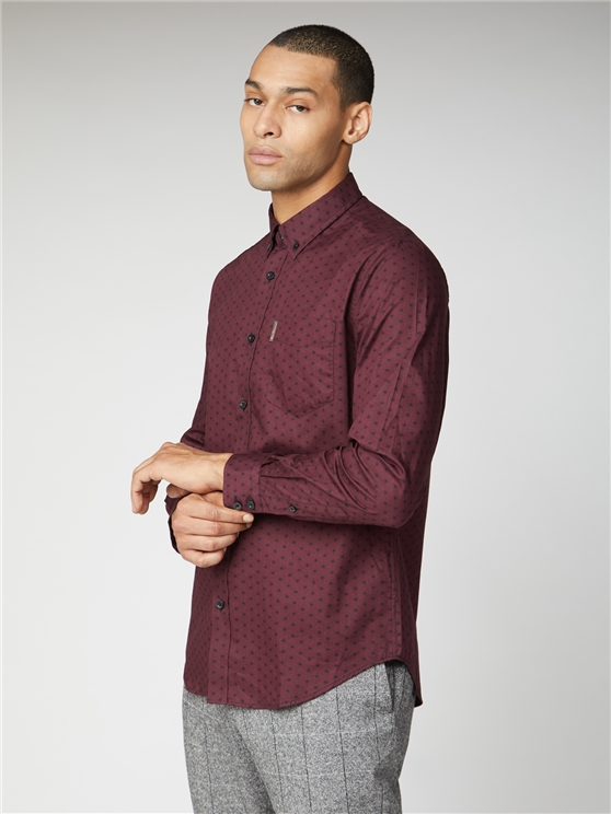 Long Sleeve Contrast Geo Shirt