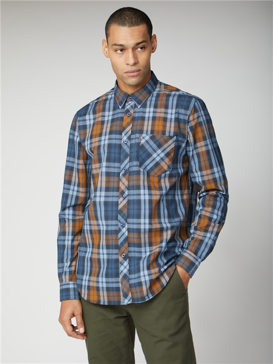 Long Sleeve Large Scale Check Shirt