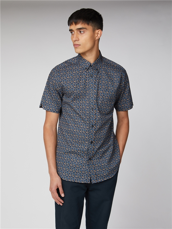 Short Sleeve Multi Colour Floral Shirt
