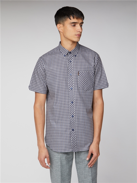 Short Sleeve Mini Check Shirt