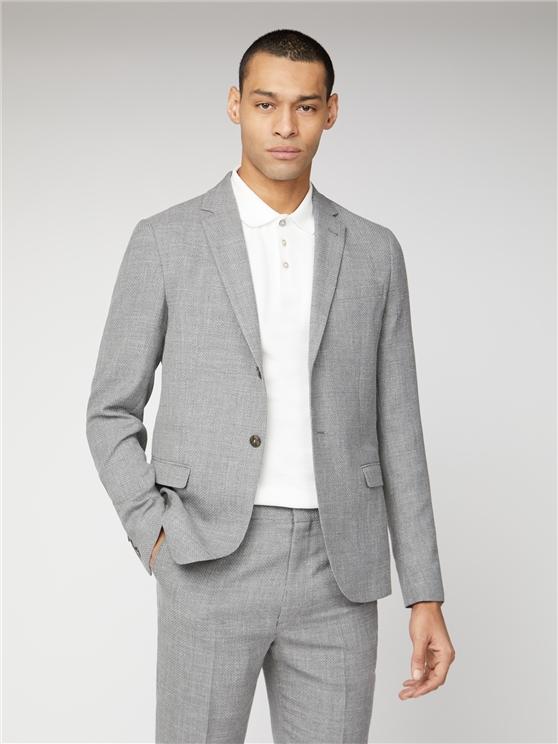 Cool Grey Broken Structure Camden Fit Suit