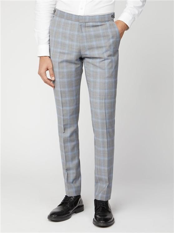 Ice Grey Blue Camden Fit Suit Trouser