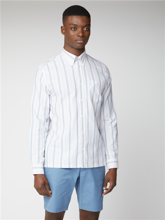 Archive Brighton Lilac Striped Long Sleeved Shirt