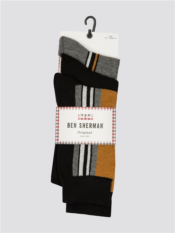 Grundy 3 Pack Socks