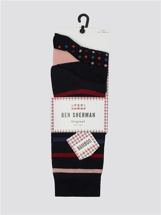 Denman 3 Pack Socks