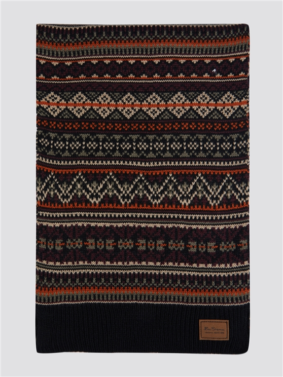 Fairisle Knitted Scarf