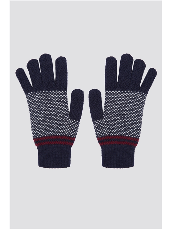 Stitch Interest Colour Block Glove