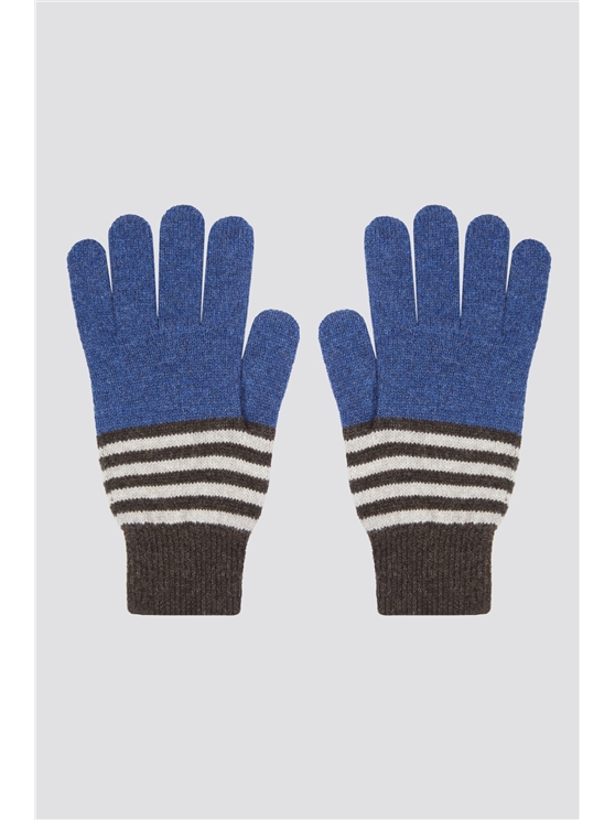 Colour Block Stripe Gloves