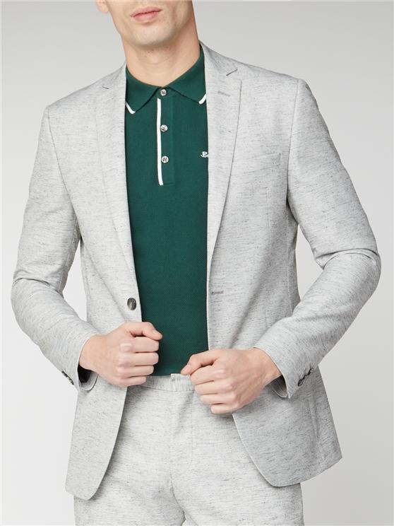 Grey Linen Texture Slim Fit Suit