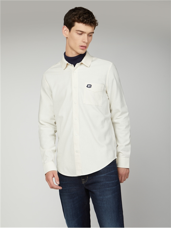Recycled Cotton Rib Collar Shirt