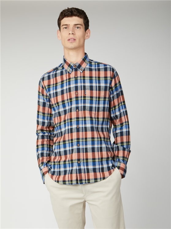 Brushed Twill Check Shirt