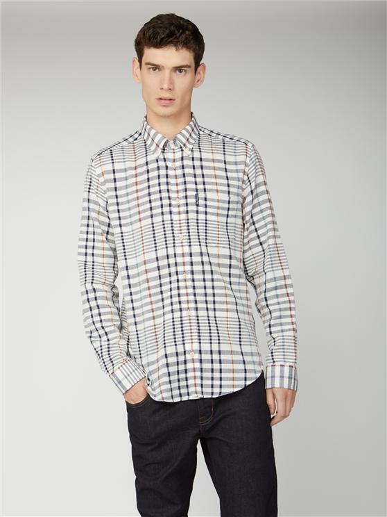 Oversized Stripe Check Shirt