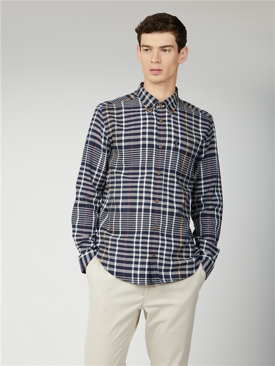Oversized Stripe Check Shirt