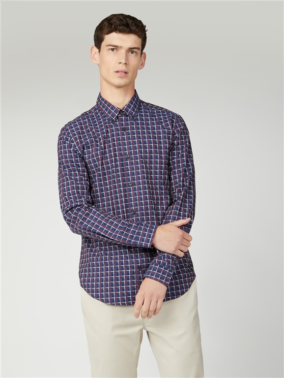 Irregular Twill Check Shirt