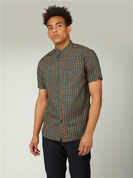 Twill Gingham Overcheck Shirt