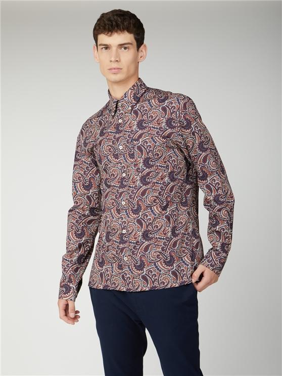 Large Paisley Print Shirt